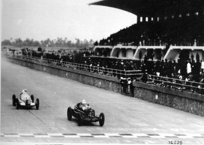 1935 Tripoli Nuvolari e Fagioli sul rettilineo