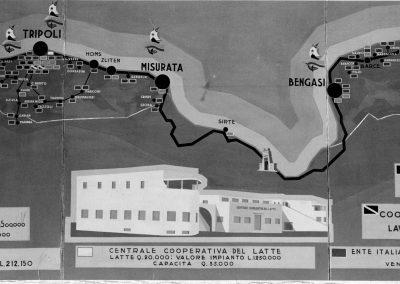 1939 Mappa cooperative italiane in Libia E82