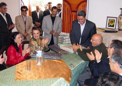 2004 11 19 Tripoli Viaggio La delegazione Italiana con il sindaco di Sabratha