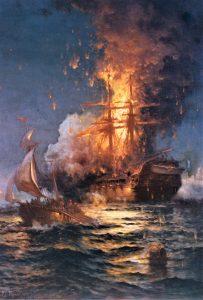 L'incendio della USS Philadelphia