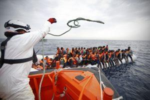 Salvataggio di migranti nel Mediterraneo