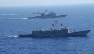 Nave turca al largo della Libia