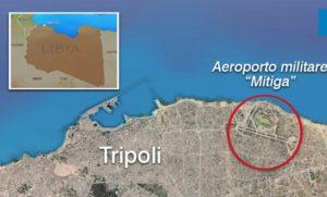 Vista satellitare Libia con aeroporto Mitiga