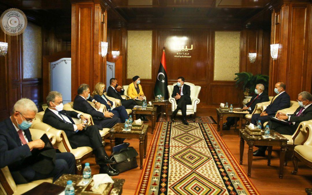 La delegazione italiana a Tripoli