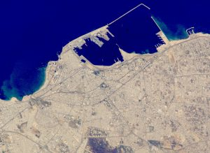 Vista satellitare di Tripoli