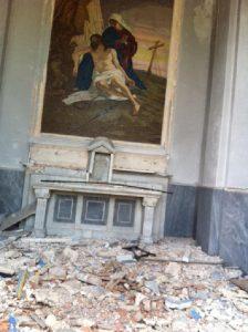 Il cimitero italiano devastato