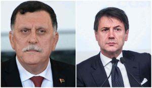 Il Presidente Conte e il Premier Al Serraj