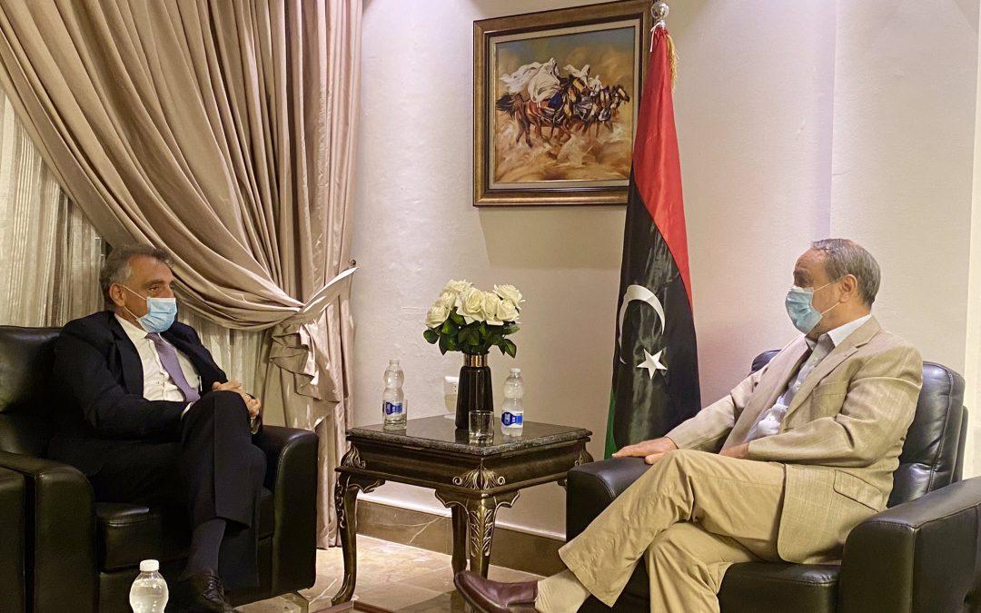 L'Ambasciatore Buccino, dopo Maiteeq, incontra al-Sewehli