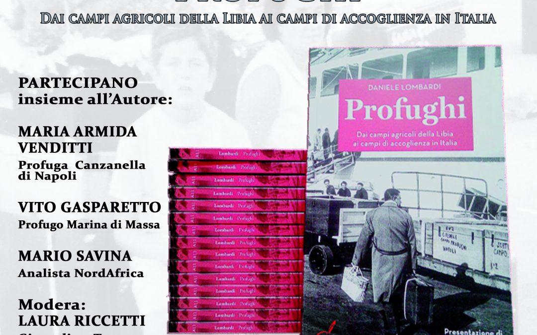 """Presentazione su FB del libro """"Profughi. Dai campi agricoli in Libia ai campi di accoglienza in Italia"""" di Daniele Lombardi."""